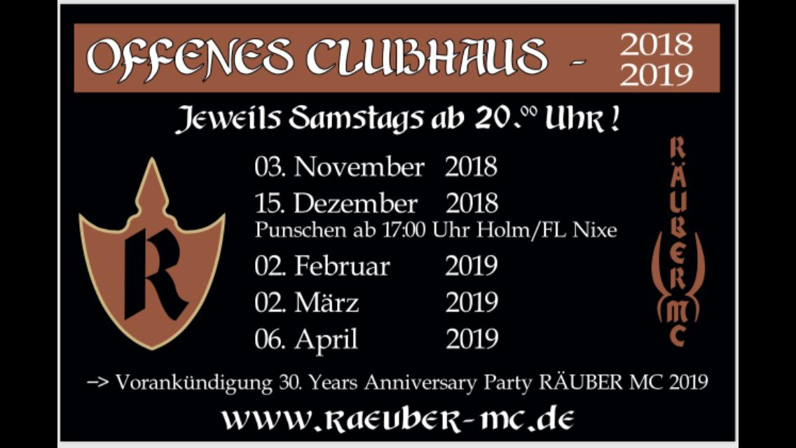 Offenes Clubhaus 2018 2019